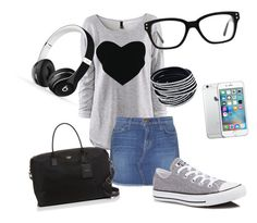"""""""A day on my own"""" by martin-ursina on Polyvore featuring Mode, Current/Elliott, Converse, Kate Spade und Beats by Dr. Dre"""