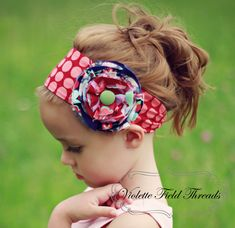 Celebrate our Blog Lillian Headband PDF Pattern Tutorial, 3 versions (6 options), 4 sizes-baby to adult. $6.26, via Etsy.