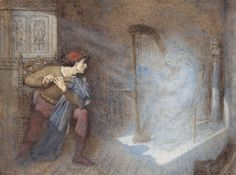 Henry John Stock (1853-1930), A pale and glimmering light appeared before him.