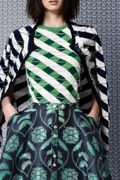 Thom Browne Resort 2014 - mixed print / pattern fashion collection http://pinterest.com/arenaint