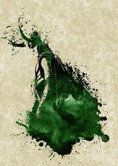 """Tom Hiddleston """"Loki"""" Fan art From http://fc00.deviantart.net/fs71/i/2013/182/e/e/loki_watercolor_by_vegalys-d6bijdx.jpg"""