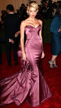 Amber Heard - Celebs at the Costume Institute Benefit Gala 2012 at The Met