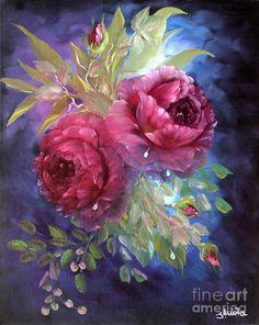 Romantic Roses Painting  -Ilona Anita Tigges - Goetze