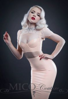Mosh by Idollphamine wearing Mico Couture Latex| http://thepinuppodcast.com  re-pinned this because we are trying to make the pinup community a little bit better.