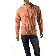 Z Brand Hoodie Shirt Mens Vintage Pullover Sweatshirt Size S Shirts NEW Orange #ZBrand #SweatshirtCrew