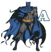 Oh my Alfabetos!: Alfabeto animado de Batman de pie.