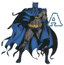 Oh my Alfabetos!: Alfabeto animado de Batman de pie.