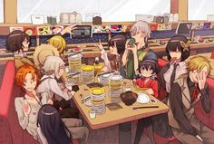 "FAN MADE/FAN ART ANIME & MANGA, Bungou Stray Dogs, Detective Agency, ""Dazai Osamu"" ""Edogawa Rampo"" ""Fukuzawa Yukichi"" ""Izumi Kyoka"" ""Kunikida Doppo"" ""Miyazawa Kenji"" ""Nakajima Atsushi"" ""Tanizaki Junichirou"" ""Tanizaki Naomi"" ""Yosano Akiko"