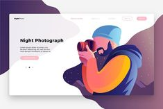Photography Night-Landing Page by @Graphicsauthor