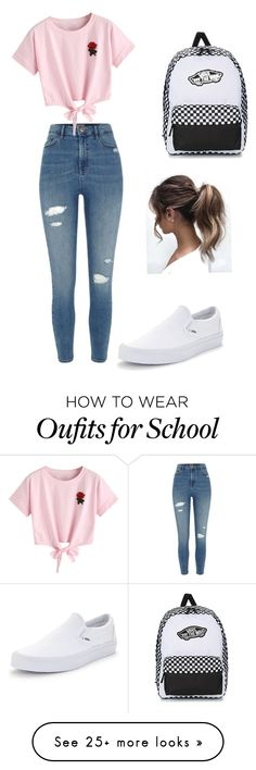 """School"" by danita-shukri on Polyvore featuring River Island, WithChic and Vans"