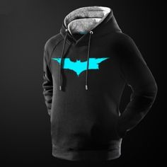 glow in the dark mens batman hoodie superhero pullover hooded sweatshirt