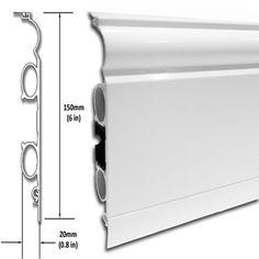 Torus (Classic TS) Discrete Heat - skirting board radiators (modern radiator design / cool radiators / bedroom radiators) Bedroom Radiators, Vertical Radiators, Baseboard Heating, Skirting Boards, Radiant Floor, Radiator Cover, Living Room Flooring, Towel Rail, Heating And Cooling