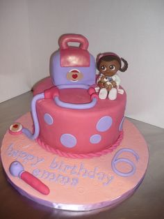- Doc Mcstuffins birthday cake.