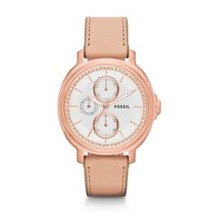 Fossil Chelsey Multifunction Leather Watch - Sand