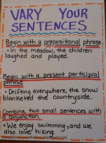Cards can be used for differentiated seat work. Students puck a sentence with which they struggled and use the cards to revise in various ways.