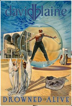 These one-of-a-kind collector's items commemorate David Blaine's endurance stunts. Magic Illusions, Magic Store, Christian Church, Space Travel, The Magicians, Vintage Posters, David, Museum, Artist