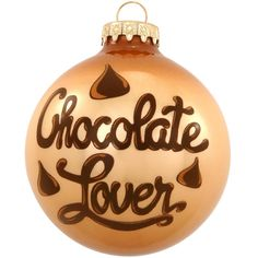 Chocolate Lover Glass Ornament