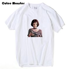 Aliexpress.com : Buy Movie The Professional Leon Matilda T shirt Men Summer Short Sleeve Top Tees Girl With Gun Printed 100% Cotton T shirt Clothing from Reliable tees girl suppliers on Cutee Mon-ster store