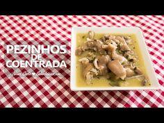Receita em vídeo de Pezinhos de Coentrada Ingredientes para 8 pessoas: 6 pezinhos de porco cortados ao meio e lavados 1 cebola grande inteira 6