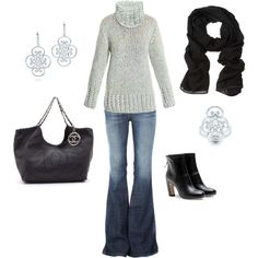 """Winter Cozy Jeans Outfit"" by ggdesigns on Polyvore"