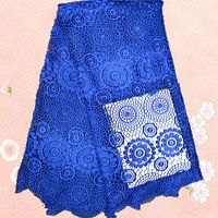 (5yards/lot)XG2-2 !   Free Shipping For 5 Yards African cord lace fabric!mesh lace for wedding cloth!royalblue color
