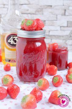 Strawberry jam with liqueur 43 Erdbeermarmelade mit Likör 43 Strawberry jam with liqueur 43 Sour Cocktail, Cocktail Drinks, Strawberry Jam, Raspberry, Galette Des Rois Recipe, Kneading Dough, Spice Cupcakes, Vegetable Drinks, Jam Recipes