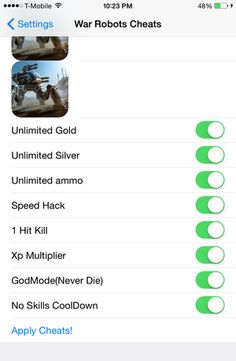 War Robots Cheats Hacks: All the latest and working updates provided by our coders. Full War Robots Cheats Hacks 2017 Download. Online War Robots Cheats Hacks provider