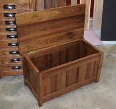 Craftsman Chest by WalnutAveWoodworking on Etsy Diy Wooden Projects, Diy Furniture Projects, Home Decor Furniture, Wooden Diy, Custom Furniture, Wood Furniture, Woodworking Vacuum, Woodworking Nightstand, Woodworking Plans