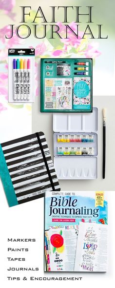 I have always kept journals ~ and love the bullet/prayer/planner/bible journaling products now available ~ plus the tips and guides, which are helpful, but when I got started on a Bible journal, I quickly realized that I needed some different pens, markers, paints and stickers to do what I wanted. This is a great place to start your own faith journal, be it a prayer or Bible journal. #journal #journaling #faith #artsupplies #prayer #ad