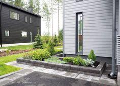 Asuntomessut 2016, Talo Nixi, 17 Big Garden, Terrace Garden, Home And Garden, Landscape Plane, Landscape Design, Outdoor Living, Outdoor Decor, Exterior House Colors, House Front