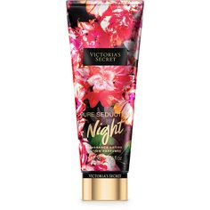 Victoria's Secret Pure Seduction Night Fragrance Lotion ($18) ❤ liked on Polyvore featuring red