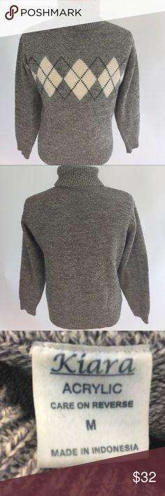 Grey argyle sweater TBD Sweaters