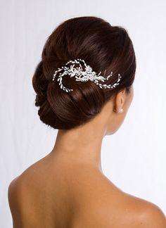 Dramatic Pearl Hair Comb by Bridal Accessories Outlet ~ $59.00 ~ Bridal Accessories Outlet is your one stop shop for the finest in affordable designer quality wedding accessories and jewelry at discount prices. Inexpensive but never cheap hair combs, flowers, tiaras, birdcage, short and long veils, earrings, belts, jewelry, bracelets, hair pins, shoe clips, bustle clips and more for the bride and bridesmaids.