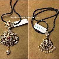 Black Diamonds Chain with Pendants