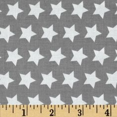 Riley Blake Star Gray from @fabricdotcom  Designed by The RBD Designers for Riley Blake, this cotton print fabric is perfect for quilting, apparel and home decor accents.