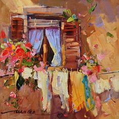 """""""When in Rome..."""", painting by artist Dreama Tolle Perry"""