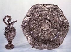 Ewer and basin 1647 Silver, ever: height 50 cm, basin: diameter 75 cm Rijksmuseum, Amsterdam