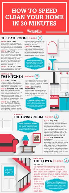 'How to Speed Clean Your Home in 30 Minutes...!' (via Woman's Day)
