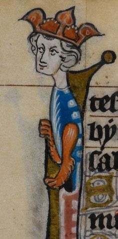 Detail from medieval manuscript, British Library Stowe MS 17 'The Maastricht Hours', f50v