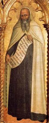 Andrea di Buonaiuto da Firenze - Madonna con Bambino e Santi (particolare) - 1360-1362 - Chiesa Santa Maria del Carmine, Firenze