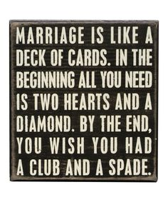 Look at this 'Marriage' Box Sign on #zulily today!
