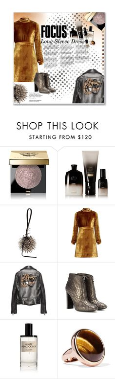 """Party On: Long Sleeve Dresses"" by daha-mk ❤ liked on Polyvore featuring Barneys New York, Oribe, A.L.C., Gucci, Tom Ford, D.S. & DURGA, Eddie Borgo and Deborah Lippmann"