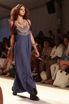 Marra Hoffman maxi dress with low boots