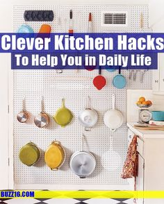 30 Clever Kitchen Hacks to Help You in Daily Life   http://buzz16.com/clever-kitchen-hacks-to-help-you-in-daily-life/