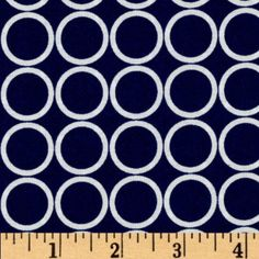 Metro Living Circles Navy Fabric