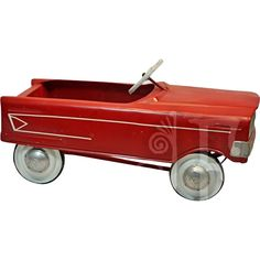 Here is an absolutely CLASSIC vintage pedal car from renowned manufacturer Murray.  What says Christmas morning better than a bright red toy car?This