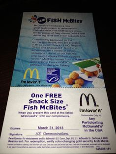Just the Two of Us and Deals: McDonald's Fish McBites Giveaway - 2 Winners