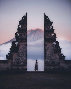 nicknamed the 'gateway to heaven' and lying at 1,175m above sea level, 'pura lempuyang luhur' is one of #bali's oldest and most highly regarded temples.  image by @makerantala