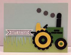 Tractor Punch Art Stampin Up Birthday Card Kit (5 cards) in Crafts, Scrapbooking & Paper Crafts, Paper Crafts | eBay