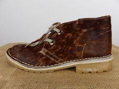 UWEZO Kenya Handmade Brindle Brown Hair Chukka Desert Boot Leather Men 10 $185 #UWEZO #DesertBoots